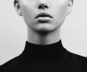 model, black and white, and woman image