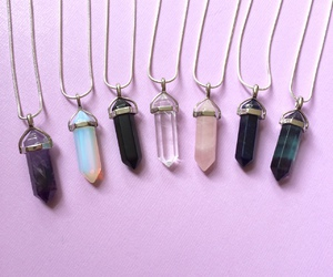 accessories, crystal, and necklace image