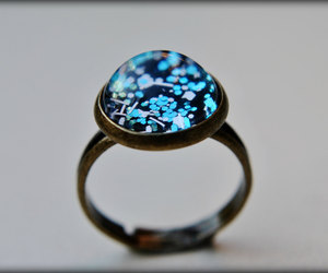 black and blue, jewelry, and glitter ring image