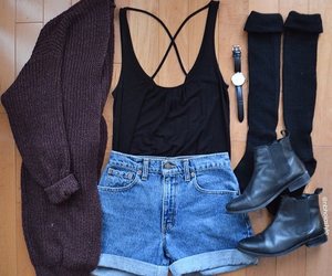 black, boots, and pretty image