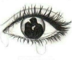 eye, cry, and art image