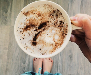 cappuccino, coffee, and comfy image