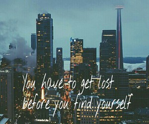quote, city, and lost image