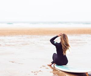 beach, Biarritz, and girl image