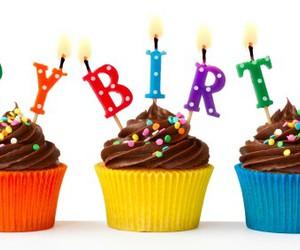 birthday, chocolate, and cupcakes image