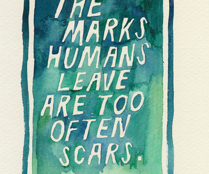 quote, scars, and john green image