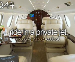 bucket list, jet, and private image