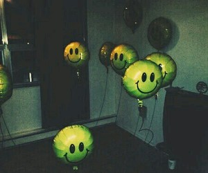 grunge, balloons, and dark image