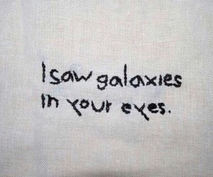 galaxy, love, and eyes image
