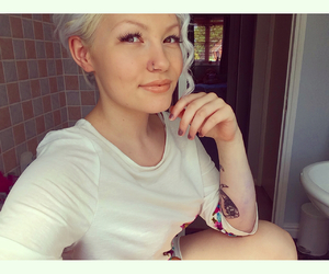 blonde, summer, and tattoo image