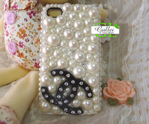 case, crystal, and pearls image
