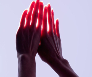 hands, sun, and light image