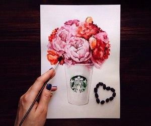 flowers and starbucks image