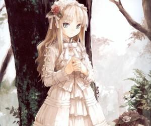 anime, black, and dress image