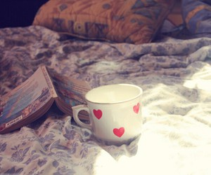 coffee, reading, and tea image