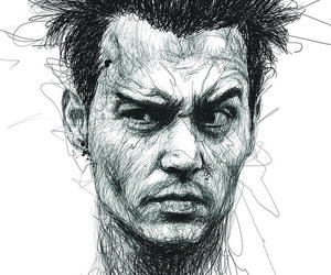 johnny depp, drawing, and art image