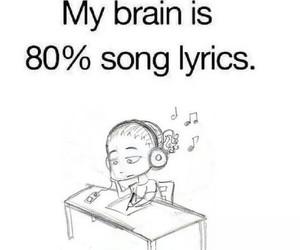 music, Lyrics, and brain image