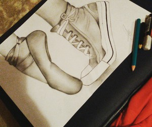 dance, drawing, and dibujo image