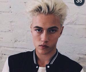 blond hair, blue eyes, and boys image