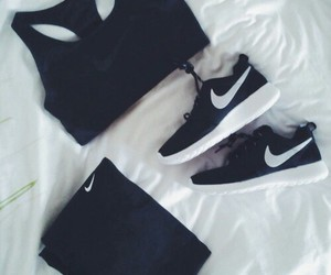 black, nike, and fitness image