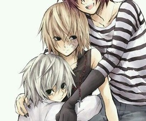 near, mello, and death note image