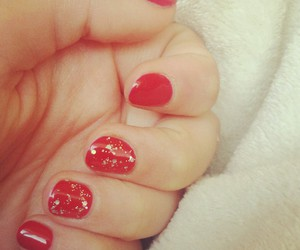 nails, red, and gelish image