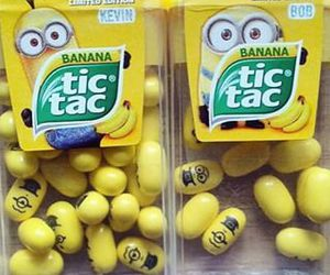 minions, banana, and tic tac image