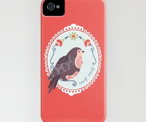 bird, case, and flowers image
