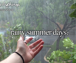 summer, rainy, and justgirlythings image
