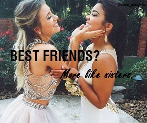 best friends, happy, and sisters image