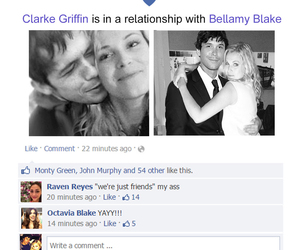 the 100, bellarke, and facebook image
