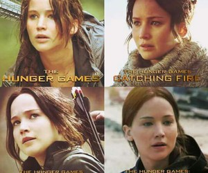 the hunger games, katniss, and everdeen image