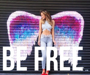 be free and girl image