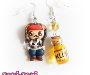 captain jack sparrow, pirates of the caribbean, and cute chibi image