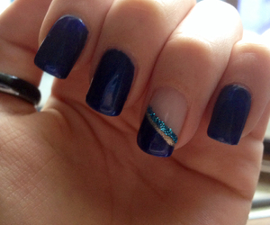blue, nail art, and nails image