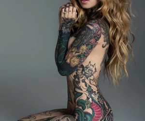 beautiful, tattoo, and colours image