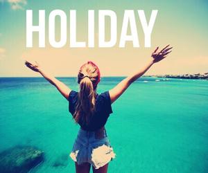 girl, holiday, and sea image