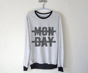 fashion, monday, and sweater image