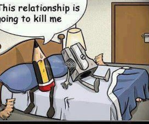 funny, Relationship, and pencil image