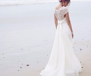 fashion, wedding dress, and white dress image