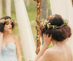 fashion, hairstyle, and wedding image
