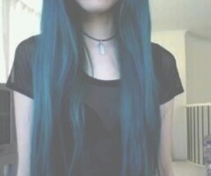 blue, hair, and blue hair image