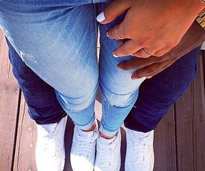 love, couple, and jeans image