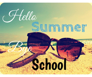 school and summer image