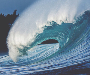 waves, sea, and nature image
