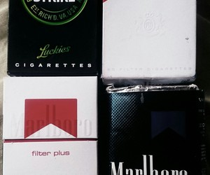 box, cigarettes, and lucky strike image