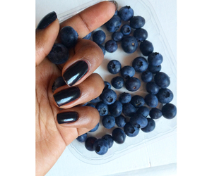 black, blue, and blueberries image