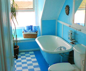 bathroom and blue image