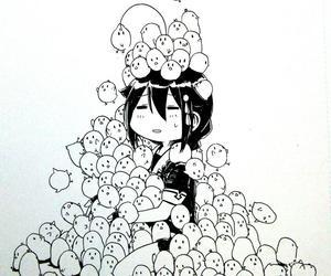 anime, anime girl, and bird image