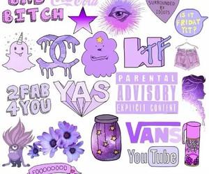 vans, flowers, and purple image